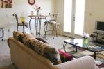 Mark VI 1 Bedroom Unit Living Room and Dining Room